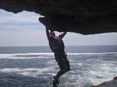 Rock Climbing Photo: Paul McCoy traversing.
