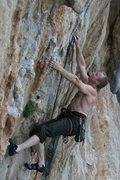 Rock Climbing Photo: Keith Beckley sending.