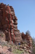 Rock Climbing Photo: Avian Flew is the right line.