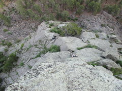 "Rock Climbing Photo: Kat A follows the ""5.6"" approach pitch o..."