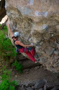Rock Climbing Photo: Moving into the crux. May 2014.