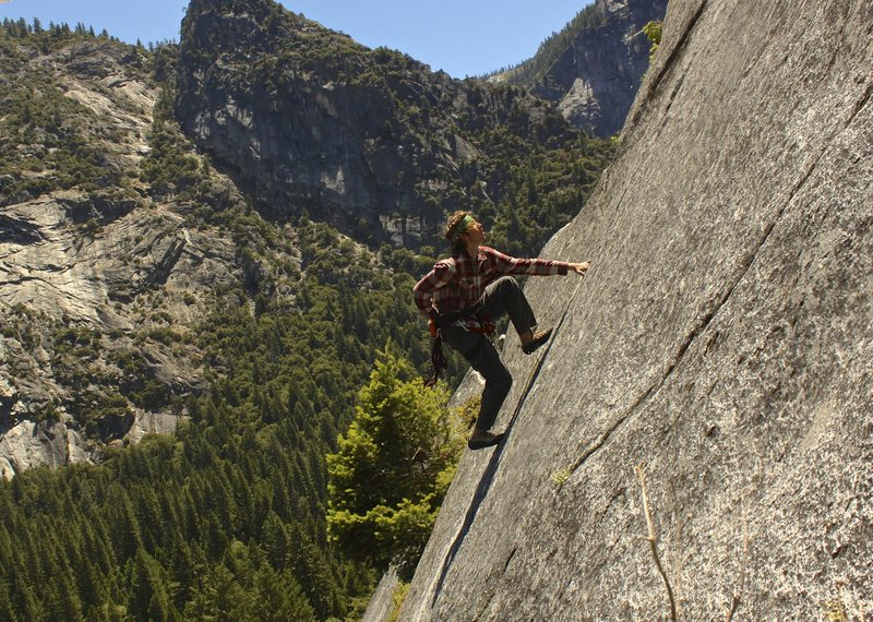 Rock Climbing Photo: Free Soloing thru the second pitch