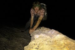 Rock Climbing Photo: Midnight climbing on the dike