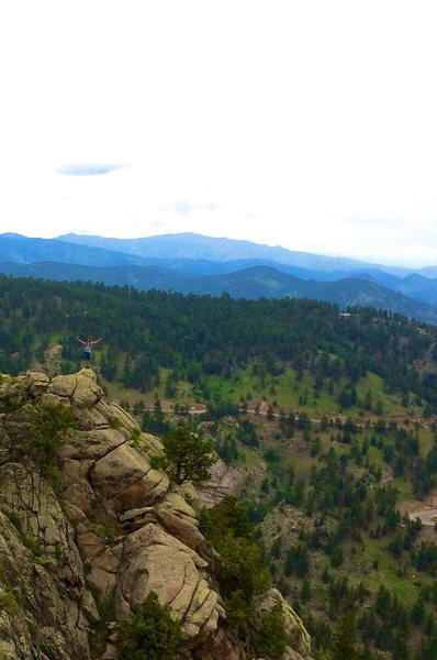 Rock Climbing Photo: Summit of Saddle Rock looking north (North Summit)...