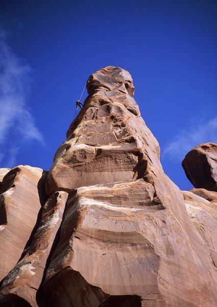 Rock Climbing Photo: Brad Bond rappelling, Dickfour