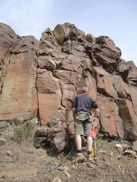 Rock Climbing Photo: Kevin, after bolting the mega proj.