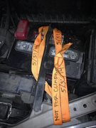 Rock Climbing Photo: Webbing wrapped over top of 2002 Toyota Sienna bat...