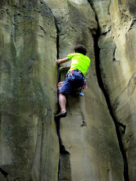 Climbing the awesome fistcrack