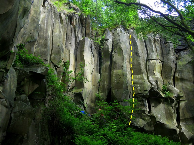 Rock Climbing Photo: The route!