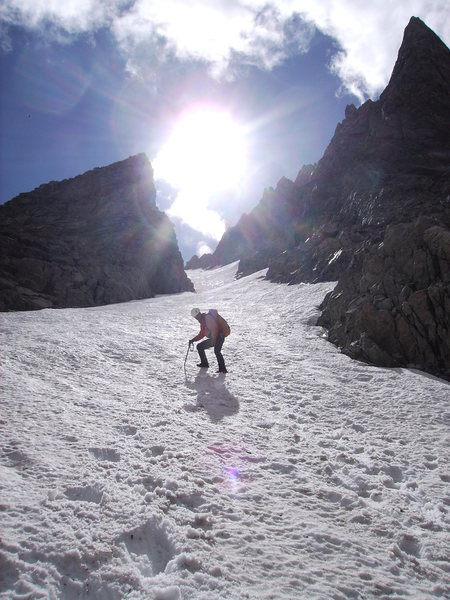 NW Couloir of Mt.Helen in August 2012