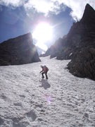 Rock Climbing Photo: NW Couloir of Mt.Helen in August 2012
