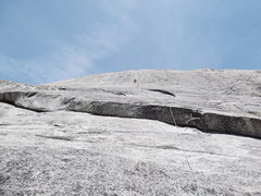 Rock Climbing Photo: Afternoon Nap. Mike on P4. All 5 pitches a full 60...