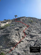 Rock Climbing Photo: This is how I did pitch one. I was able to protect...