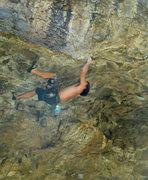Rock Climbing Photo: Heath going horizontal.
