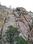 Rock Climbing Photo: Leading White Lightening