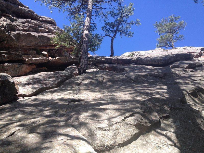 Rock Climbing Photo: View up the downclimb.