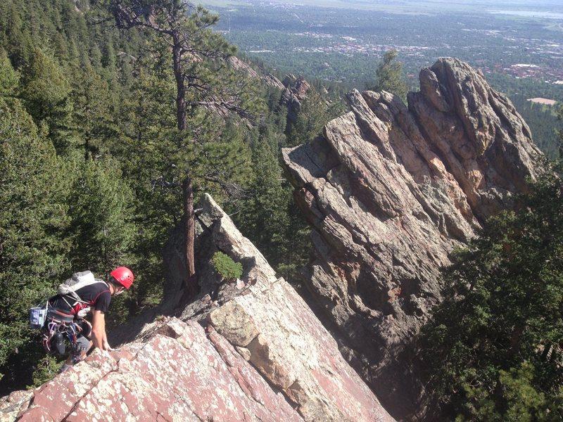 Rock Climbing Photo: Toward the downclimb.