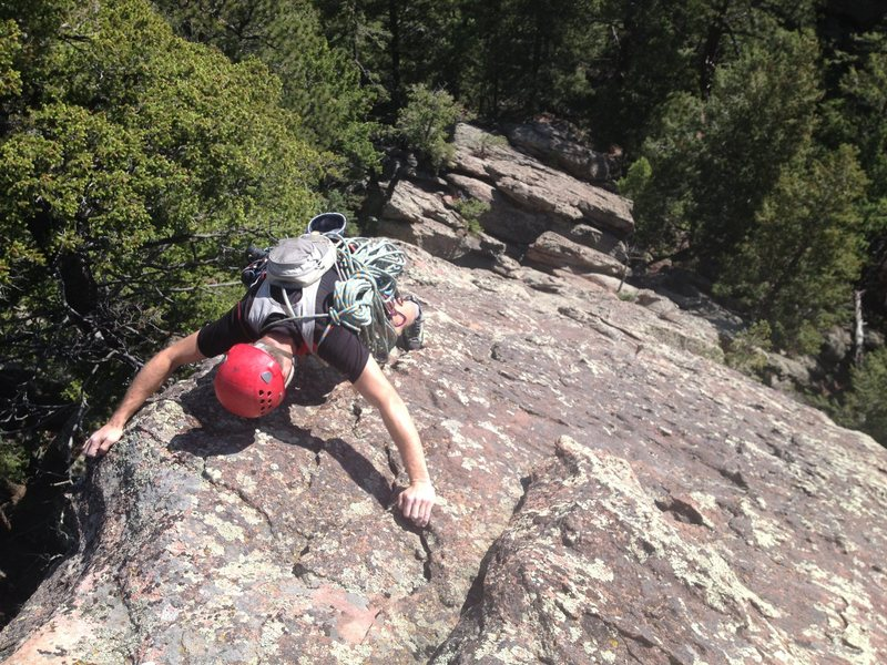 Rock Climbing Photo: Looking down the Hobo's East Ridge from the summit...