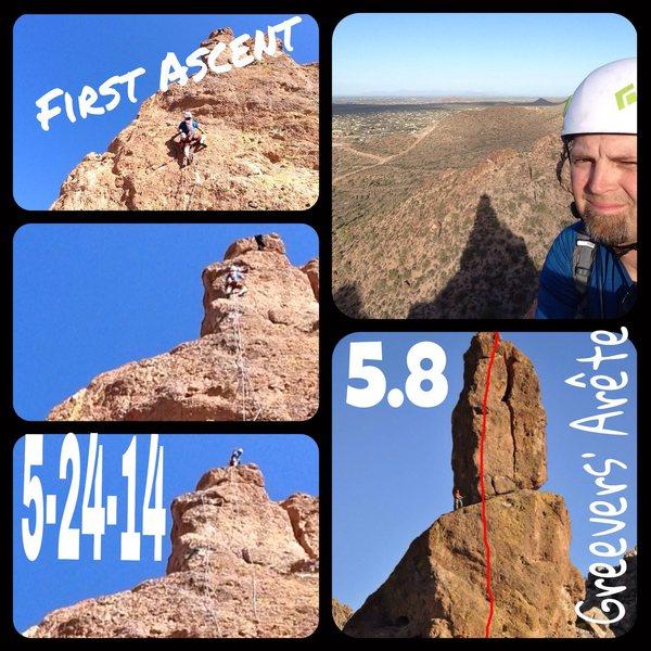 Greevers Arête first ascent!