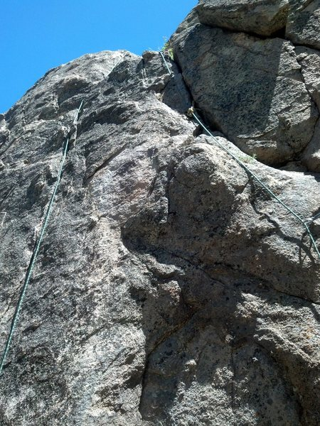 Rock Climbing Photo: View centered on midpoint of route.