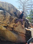 Rock Climbing Photo: Robert Seeds on the topout of Slumpback Of Notre D...