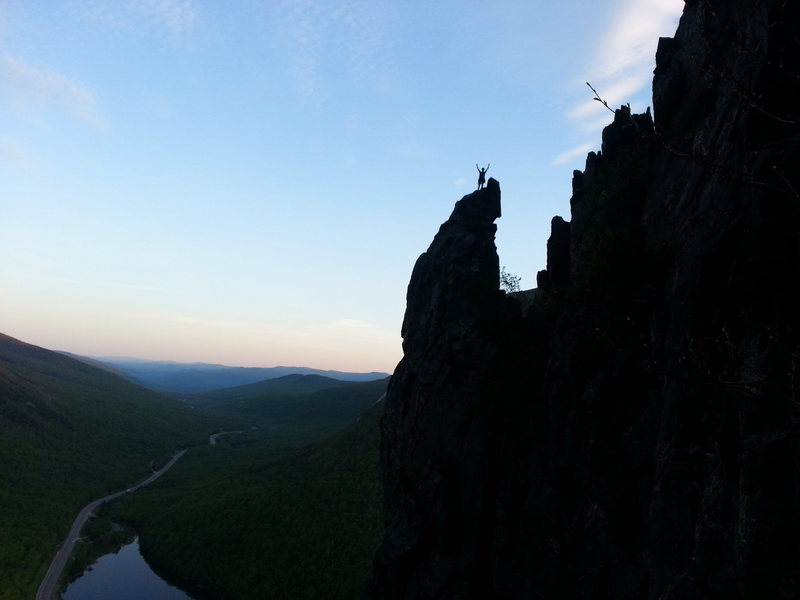 Rock Climbing Photo: On top at dusk.