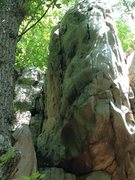 Rock Climbing Photo: finger/layback crack on left side of prow at the t...