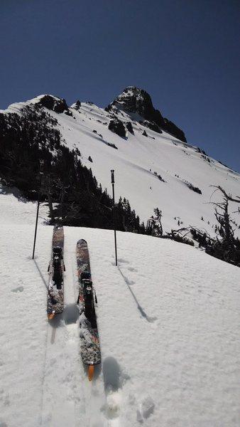 Rock Climbing Photo: Heading up the north ridge