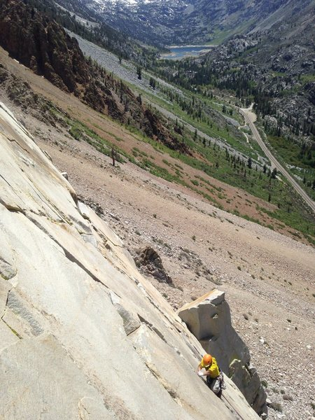 Rock Climbing Photo: Joe enjoying the beautiful hand and fingers on the...