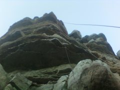 Rock Climbing Photo: Wicked pump on solid quartzite. Don't cheat with t...