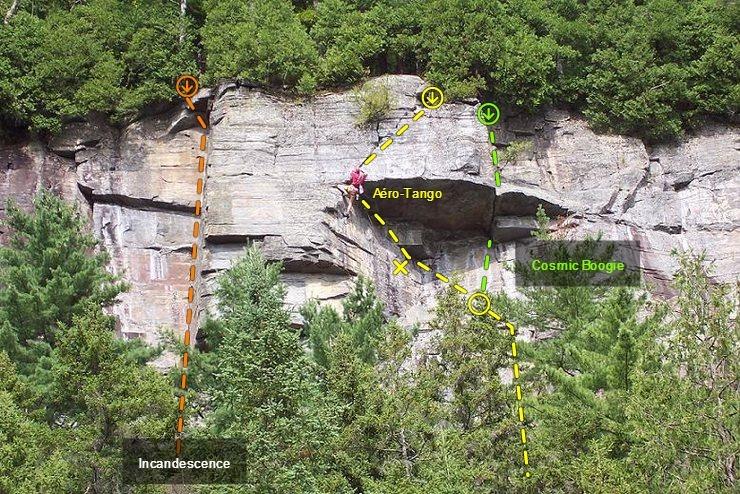 Rock Climbing Photo: Aero-Tango: Pitch 2
