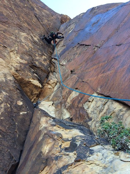 Rock Climbing Photo: awesome 6th pitch