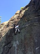 Rock Climbing Photo: Murph on the first ascent (for the records). We're...