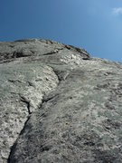 Rock Climbing Photo: La Directe P2 left crack 5.8+ variation