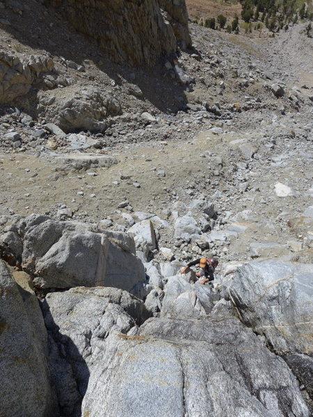 Matt higher up in the chute (1 June 2014)
