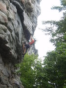 Rock Climbing Photo: Pulling out of the steepness on VD