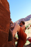 Rock Climbing Photo: Working the rail on Washed Out (V4).