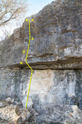 Rock Climbing Photo: Topo for route.