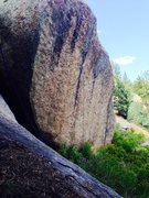 Rock Climbing Photo: That's the line with some draws and a rope on it. ...
