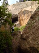 Rock Climbing Photo: This is the natural approach to the practice aid l...