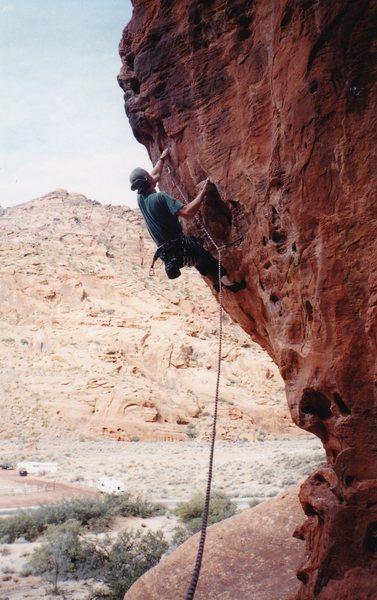 Rock Climbing Photo: Undercling handlebar.