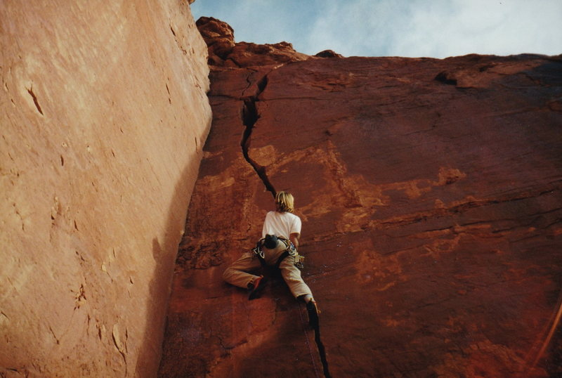 Rock Climbing Photo: This is where I learned to lead the splitters.