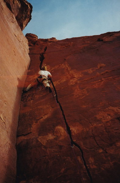 Rock Climbing Photo: Having the corner for an option at the top is nice...