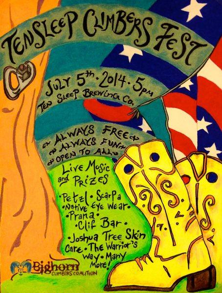 Ten Sleep Climbers Fest Promo Poster