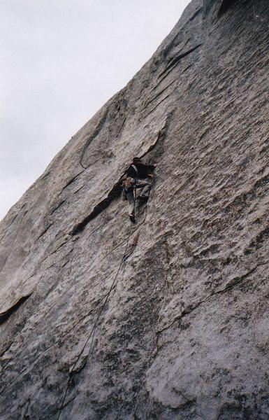 Rock Climbing Photo: A difficult spot.