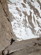 Rock Climbing Photo: Chris Orozco following P7 of the East Face