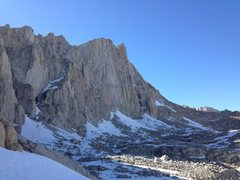 Rock Climbing Photo: Aiguille Extra as seen from the Whitney Trail swit...