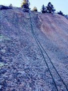 Rock Climbing Photo: The general line of the second pitch. We hadn't bo...