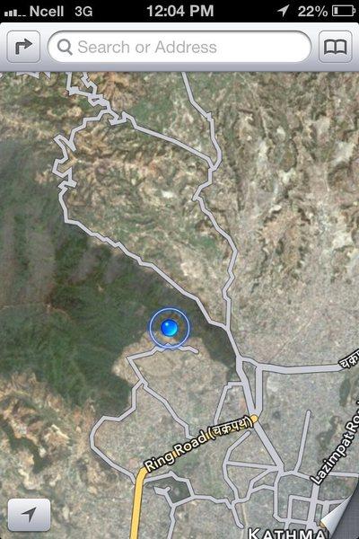 Rock Climbing Photo: Rockface actual location