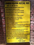 Rock Climbing Photo: Rules of the park